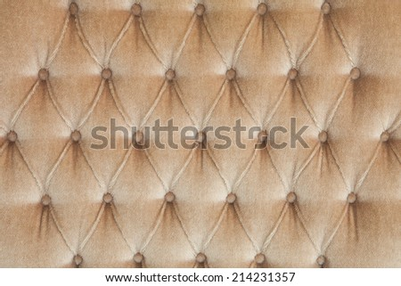 Beige Color Velvet leather texture from sofa - stock photo
