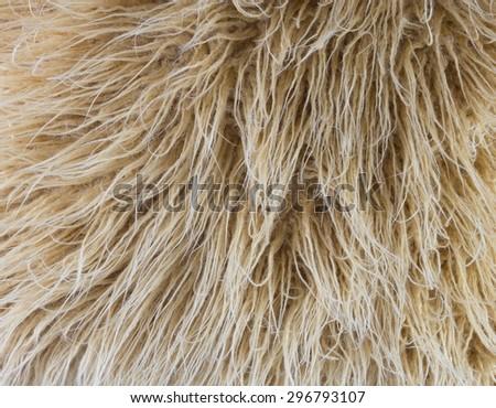 Beige faux fur. - stock photo