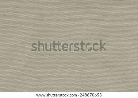 Beige Khaki Cotton Fabric Texture Background, Detailed Macro Closeup, Large Horizontal Textured Linen Canvas Burlap Copy Space Pattern - stock photo