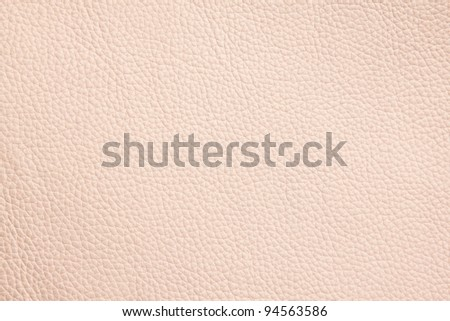 Beige leather pattern, close up shot - stock photo