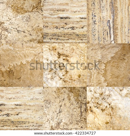Beige marble tile seamless texture - stock photo