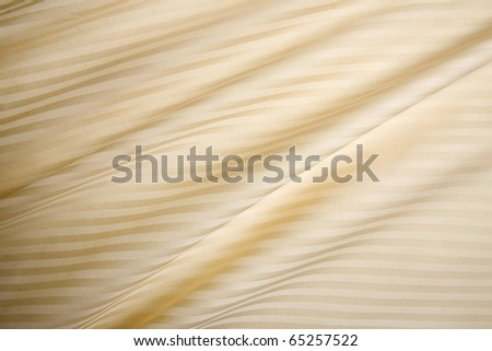 beige satin silky sheets - stock photo