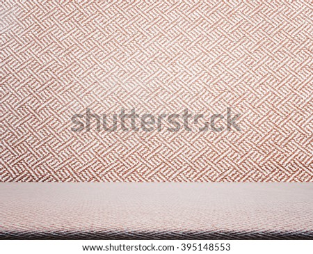 Beige tweed fabric pattern texture as background - stock photo