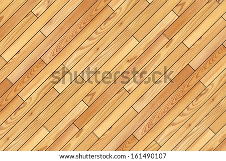 beige wooden parquet design installed at an angle - stock photo