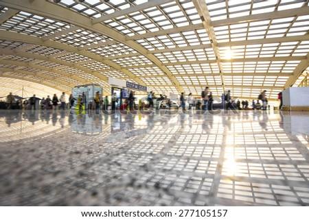 Beijing capital airport - stock photo