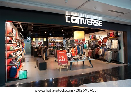 BEIJING, CHINA-JANUARY 18, 2015: Converse store; Converse, an American shoe company founded in 1908, sells its products worldwide through retailers and around 75 company-owned retail stores in USA. - stock photo