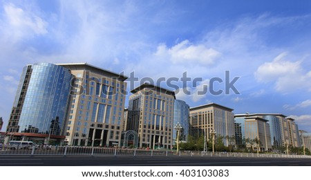 BEIJING, CHINA-SEPTEMBER 3, 2015: The Malls at Oriental Plaza at city's downtown. The Malls is an integral part of one of the largest commercial complexes in Asia, Oriental Plaza.   - stock photo