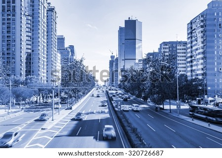 Beijing skyline at the central business district. - stock photo