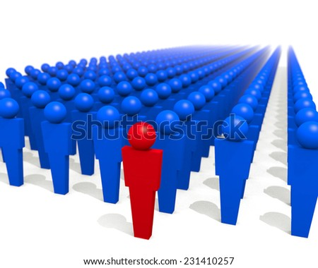 Being An Individual - An illustration related to leadership positions and the role of individuality. - stock photo