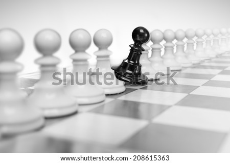 Being different - stock photo