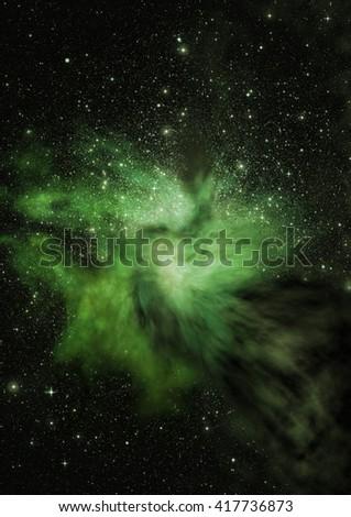Being shone nebula - stock photo