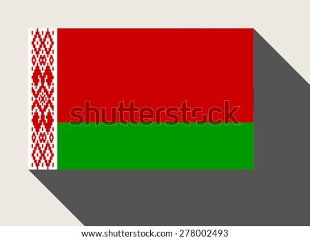 Belarus flag in flat web design style. - stock photo
