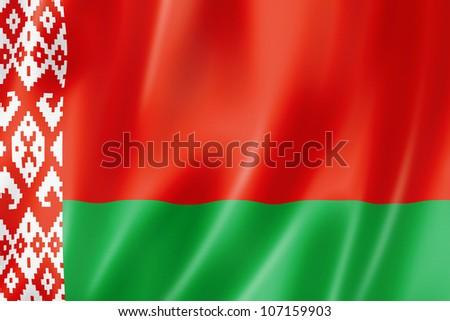 Belarus flag, three dimensional render, satin texture - stock photo