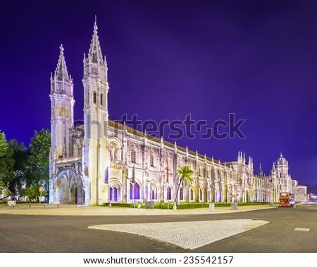 Belem, Lisbon, Portugal at Jeronimos Monastary. - stock photo