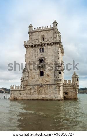Belem tower in Lisbon, Portugal, EU, Europe. - stock photo