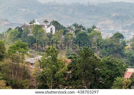 Belen church in Popayan, Colombia - stock photo