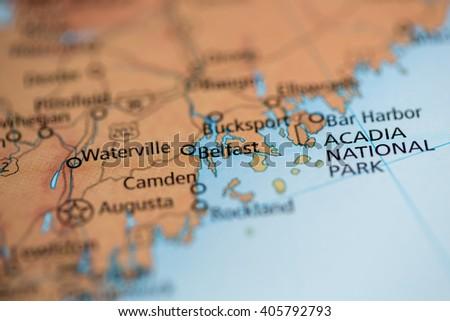 Belfast. Maine. USA - stock photo