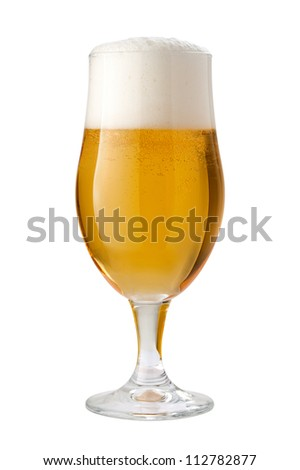 Belgian Ale (Beer) Isolated with clipping path - stock photo