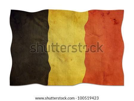 Belgian flag made ??of paper. - stock photo