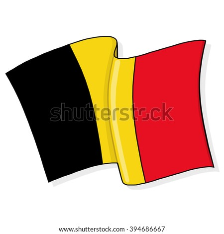 Belgium flag illustration - stock photo
