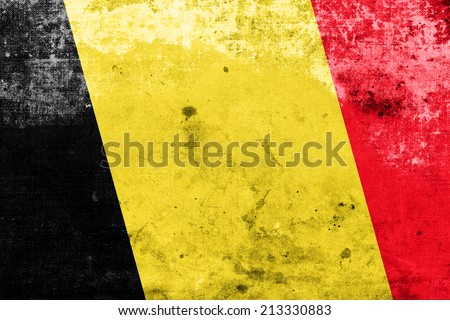 Belgium Flag with a vintage and old look - stock photo