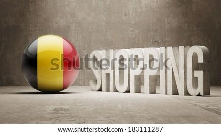 Belgium High Resolution Shopping - stock photo