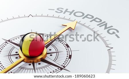 Belgium High Resolution Shopping Concept - stock photo