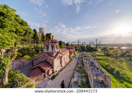 Belgrade fortress and Kalemegdan park, Belgrade Serbia  - stock photo