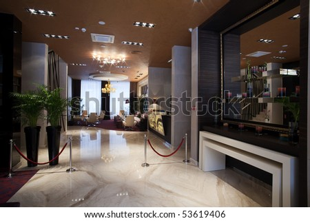 BELGRADE - MARCH 13: New Hotel Crystal opened for business on March 13, 2010 in Belgrade, Serbia. - stock photo