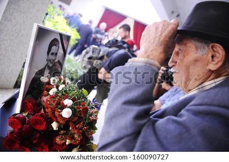 BELGRADE - OCTOBER 26: Jovanka Broz' funeral, Former Yugoslavia's first lady Jovanka Broz was laid to rest Saturday near the grave of her husband Josip Broz Tito in Belgrade, Serbia, October 26, 2013 - stock photo