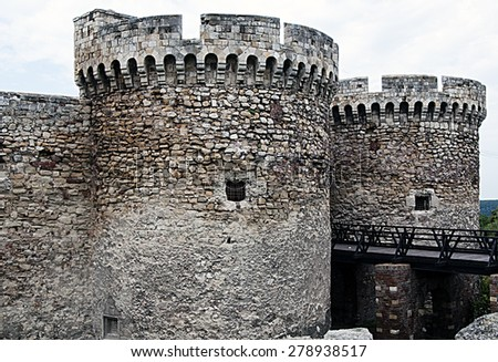 BELGRADE, SERBIA, August 4, 2014: View of Kalemegdan fortress in Belgrade, Serbia. Tourist attraction in the city. - stock photo