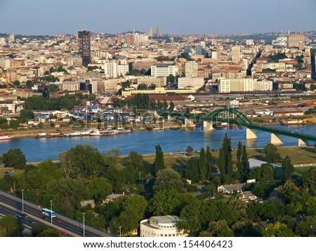 Belgrade, Serbia / Belgrade Aerial view  - stock photo