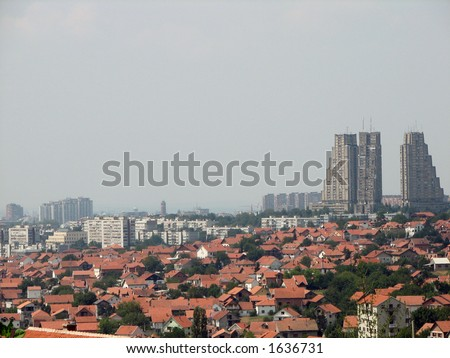 Belgrade skyline - stock photo