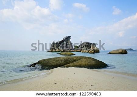 Belitung's beach, Indonesia - stock photo