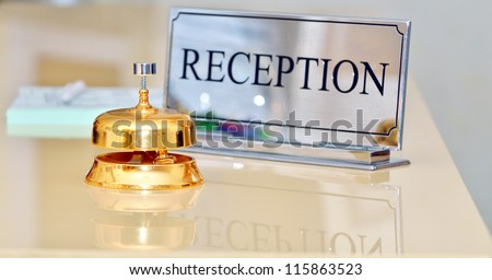 bell at the hotel - stock photo