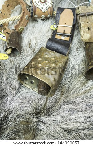 Bell clapper steel and iron to animals, objects - stock photo