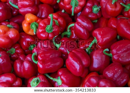 Bell peper,north Thailand,sweet,cheap - stock photo
