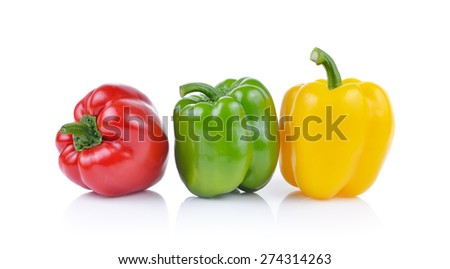 Bell pepper  isolated on white background - stock photo