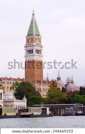 bell tower, Venice - stock photo