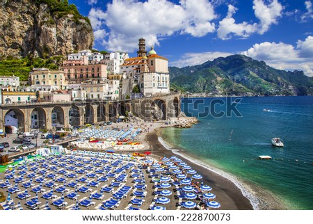 bella Italia series - Atrani village, Amalfi coast - stock photo