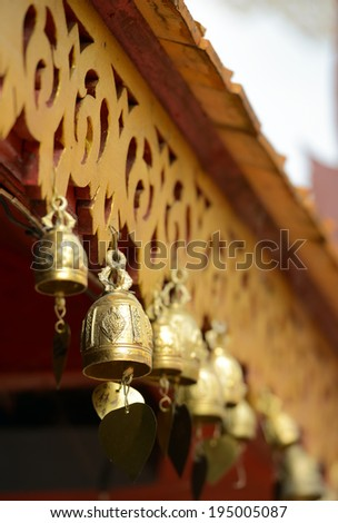 Bells of the old temple - stock photo