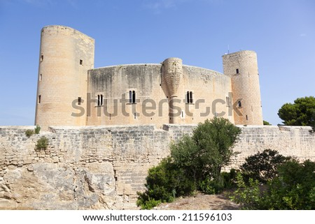 Bellver castle in Palma de Mallorca, Spain - stock photo