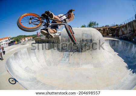 BELMONTE, PORTUGAL - JULY 12, 2014: Daniel Penafiel from Spain during the The Lost Bowl Event. - stock photo