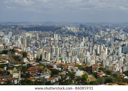 Belo Horizonte - aerial view - Brazil - stock photo