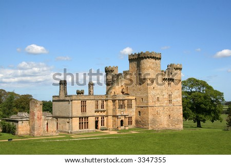 Belsay Castle in Northumberland,England - stock photo