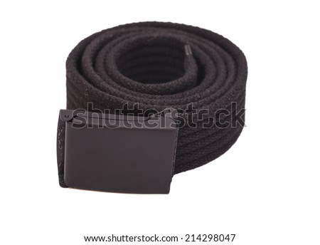 belt for men on white background  - stock photo