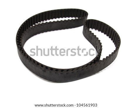 belt from the motor vehicle on a white background - stock photo