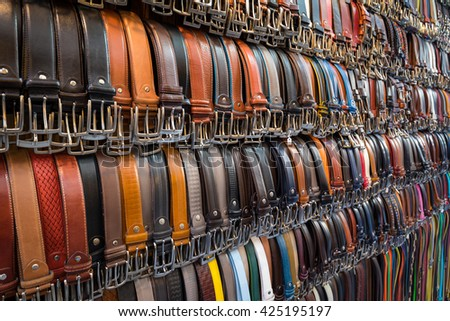 Belt Market - stock photo