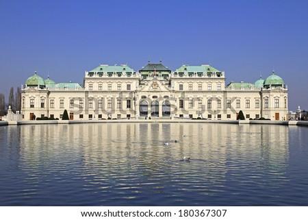 Belvedere castle in Vienna, Austria - stock photo