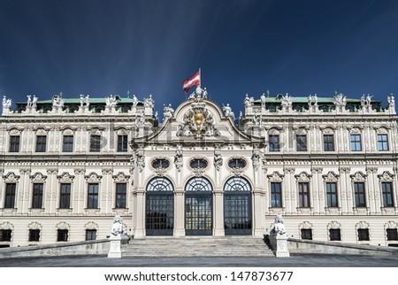 Belvedere Castle Vienna - stock photo